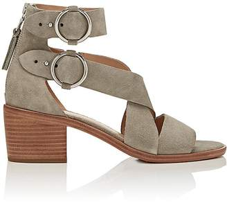 Rag & Bone Women's Mari Suede Double-Buckle Sandals