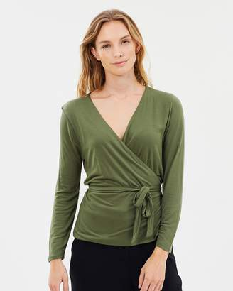 J.Crew Wrap and Tie Top