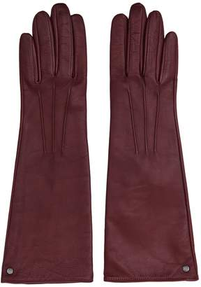 Reiss Starling - Dents Long Leather Gloves in Bordeaux