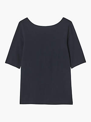 White Stuff Organic Cotton Bonnie T-Shirt, Navy