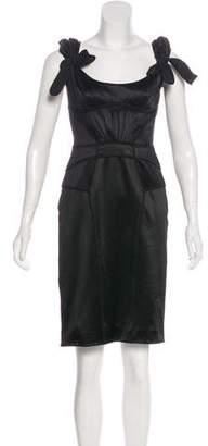 Zac Posen Cap Sleeve Knee-Length Dress