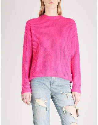 Mo&Co. Cutout-back knitted jumper