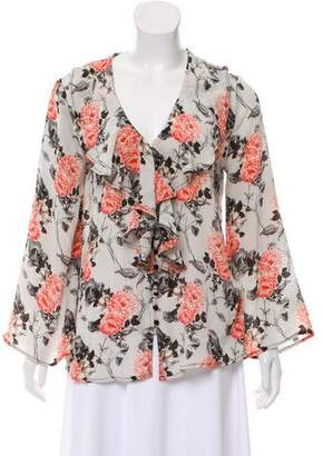 Tolani Silk Floral Blouse w/ Tags