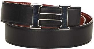 Hermes Vintage H Black Leather Belts