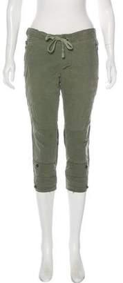 Greg Lauren Silk Low-Rise Pants
