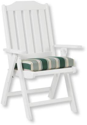 L.L. Bean L.L.Bean Casco Bay Cushion for All-Weather Armless/Folding Chair, Stripe