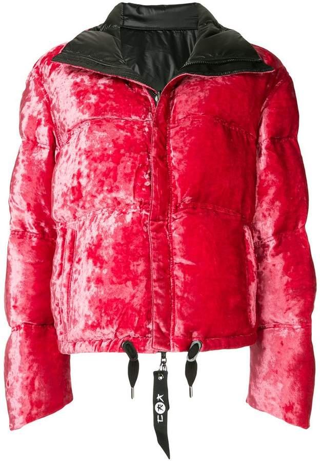 Kru reversible velvet puffer jacket