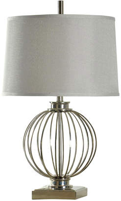 Stylecraft Style Craft Transitional Polished Nickel Table Lamp On Metal Base