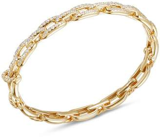 David Yurman Stax Chain Link Bracelet with Diamonds in 18K Yellow Gold