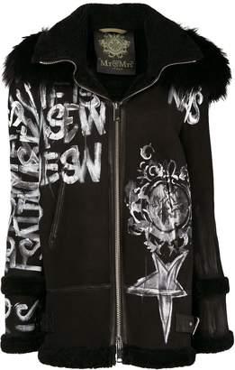 Mr & Mrs Italy graffiti hooded coat