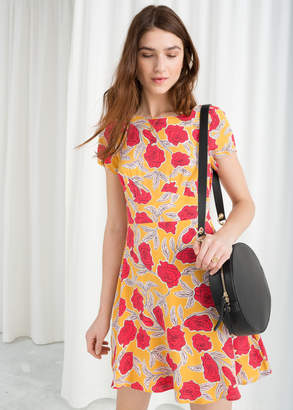 And other stories Floral Printed Skater Dress 704d0d6db