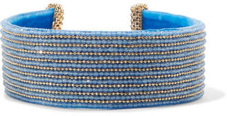 Rosantica Eleonora Gold-tone Bead Choker - Blue