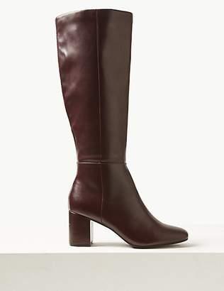 M&S Collection Block Heel Knee Boots