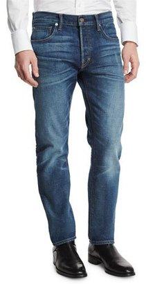 TOM FORD Regular-Fit Selvedge Denim Jeans, Indigo $680 thestylecure.com