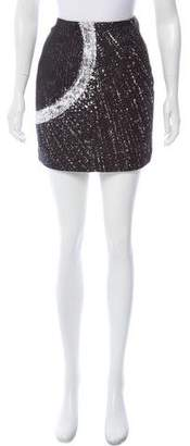 Malo Printed Mini Skirt