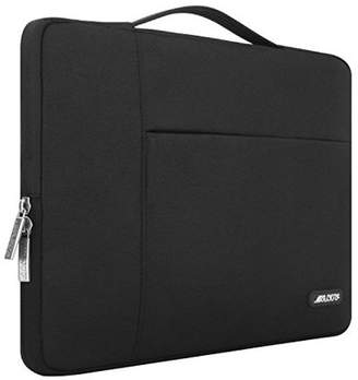 Mosiso Polyester Fabric Multifunctional Sleeve Briefcase Handbag Case Cover for 13-13.3 Inch Laptop, Notebook, MacBook Air/Pro, Black