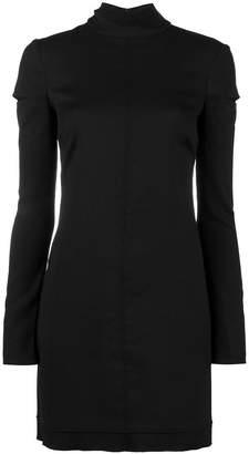 Helmut Lang Mini dress with Cut-out Shoulders