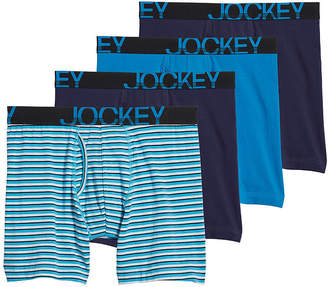 Jockey Men's 3-pack + 1 Bonus Active Stretch Midway Briefs