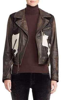 Ralph Lauren 50th Anniversary Hadley Leather Jacket w/ Calf Hair