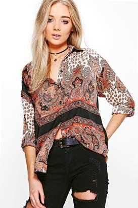 boohoo Paisley Printed Shirt