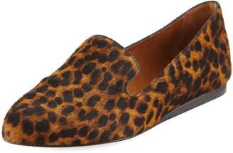 Veronica Beard Griffin Leopard-Print Loafer Flat