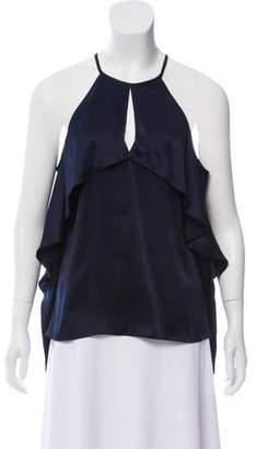 Cushnie et Ochs Silk Cold-Shoulder Top