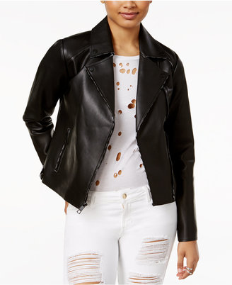GUESS Faux-Leather Moto Jacket $108 thestylecure.com