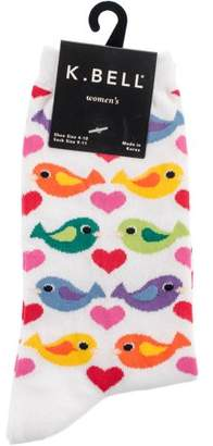 K. Bell Novelty Crew Socks - Colorful Birds