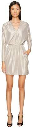 Just Cavalli Long Sleeve V-Neck Sparkled Dress Women's Dress
