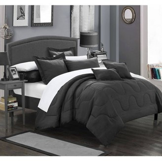 Chic Home 11-Piece Direllei Complete Bedding Ensemble Comforter Set