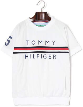 Tommy Hilfiger (トミー ヒルフィガー) - TOMMY HILFIGER ナンバーxロゴ プリント半袖 ウィンド トップ ホワイト m