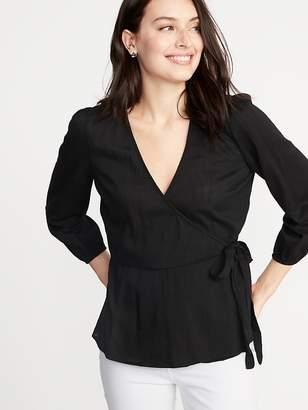 Old Navy Wrap-Front Tie-Waist Top for Women