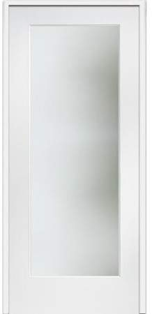 Verona Home Design Satin Etched MDF Frosted Glass Prehung French Doors