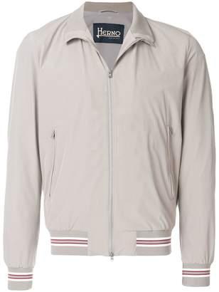 Herno stripe trim bomber jacket