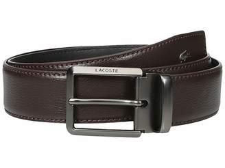 Lacoste Premium Leather Metal Croc Belt Men's Belts