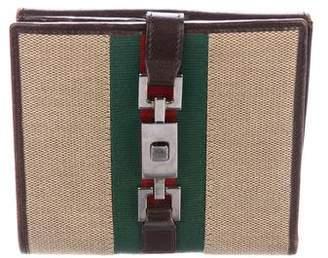 Gucci Web Canvas Compact Wallet