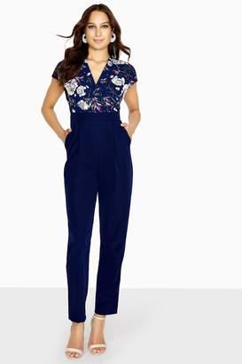 ca033b5fad5 Paper Dolls Outlet Grana Winter Floral Tuxedo Jumpsuit