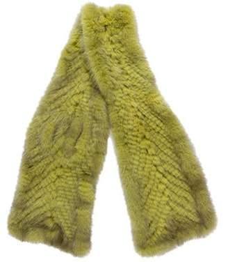 Cassin Knit Mink Scarf