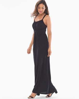 Bliss Knit Twist Waist Maxi Dress Black RG