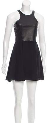 Mason Silk Leather-Trimmed Dress