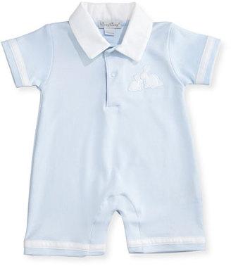 Kissy Kissy Pique Cottontails Pima Shortall, Blue, Size 0-18 Months $45 thestylecure.com