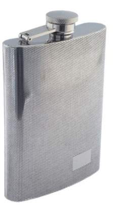 Colonel Conk Model 509 Rimless Flask with Diamond Pattern and Mirror Finish
