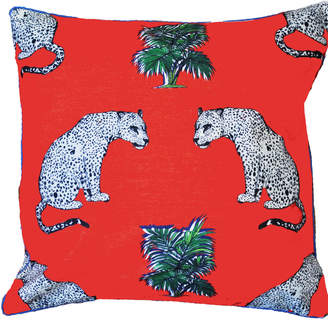Jessica Russell Flint - The Sitting Leopards Indoor & Outdoor Cushion