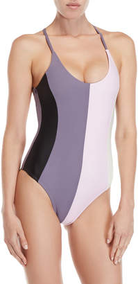 Pilyq Farrah Color Block One-Piece Swimsuit