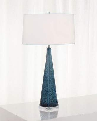 Port 68 London Smoke Blue Glass Lamp
