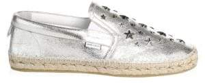 Jimmy Choo Glitter Stars Leather Espadrille