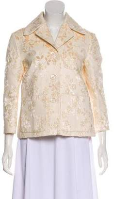 Rochas Floral Double-Breasted Jacket