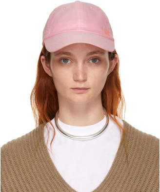 Acne Studios Pink Carlo Face Cap