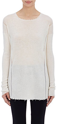 Helmut Lang Women's Frayed-Edge Sweater $370 thestylecure.com