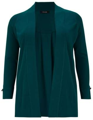 Evans Teal Long Sleeve Cardigan